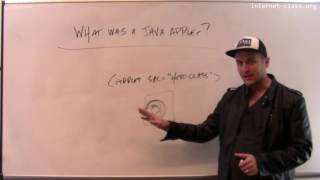 What was a Java applet?