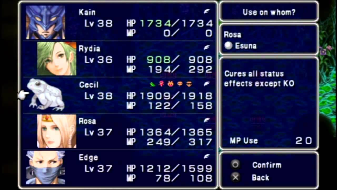 Let S Play Final Fantasy Iv Psp 037 Sylvan Cave Part 2 Of 2 Youtube