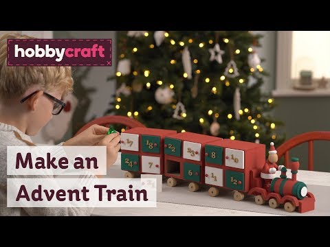Advent Calendar Train | Wooden Advent Calendars | Hobbycraft