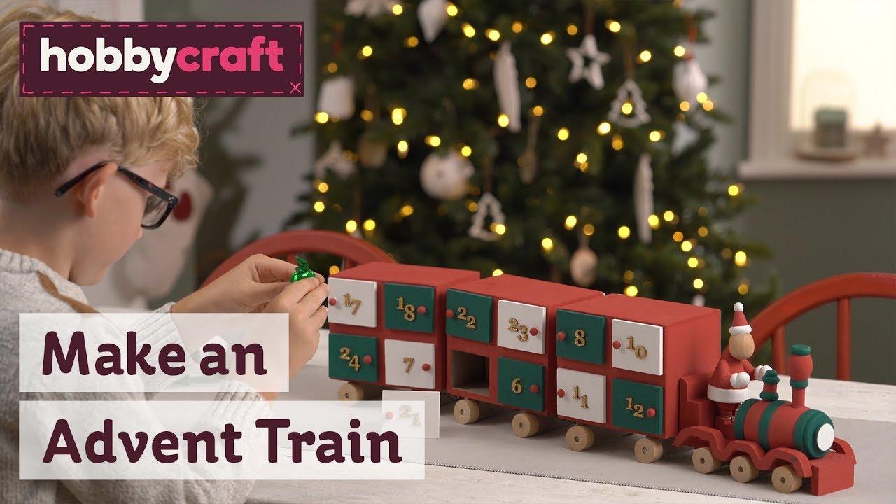 Advent Calendar Train Wooden Advent Calendars Hobbycraft