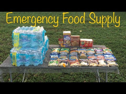 Budget Disaster Food Supply, 1 Person / 7 Days