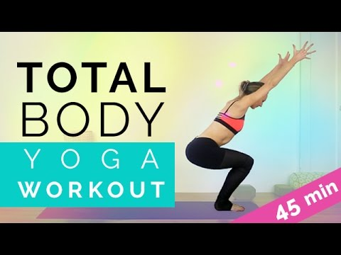 Total Body Yoga: Full Body Workout for Beginners (45-min) Amazing Viny…