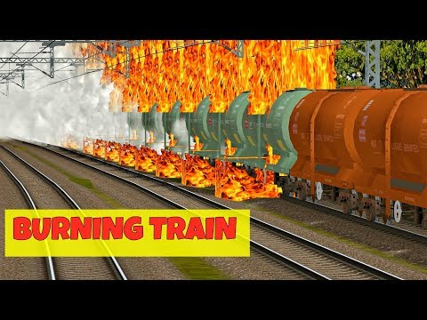 Oil Tanker Train accidentally Caught Fire || Locomotive Brakes failed || MSTS Open Rails