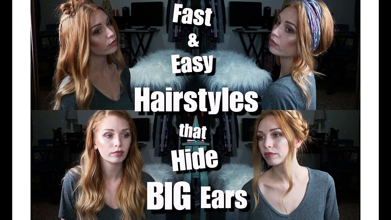 4 quick and easy hairstyles that hide big ears | 2018