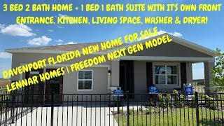 Davenport Florida New Home For Sale Property Tour | Freedom Next Gen Model by Lennar Homes | $259K*
