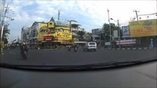 Jalanan Kota Jogja di Pagi Hari, dengan Kogan Camera dipasang di Mobil