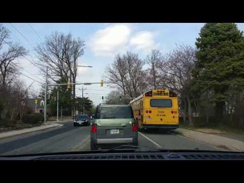 Timelaps video: Driving from Bethesda to Owings Mills, MD on the shortest way.