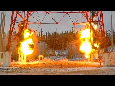AT&T Alascom Communications Tower - Controlled Demolition, I