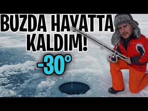-30° Buz Tutmuş Göl Üstünde 24 Saat!