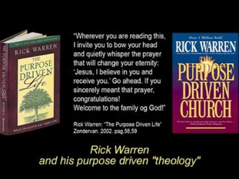 Rick Warren and his Purpose Poisoned Driven Theology