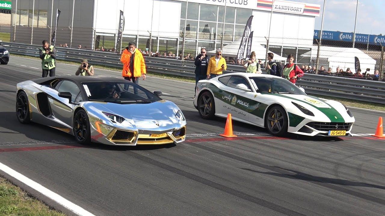 Lamborghini Aventador Lp700 Vs Ferrari F12 Berlinetta Youtube