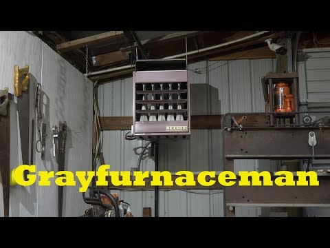 How to set up the gas unit heater for your shop #1 - YouTube Dayton Gas Unit Heater E A Wiring Diagrams on