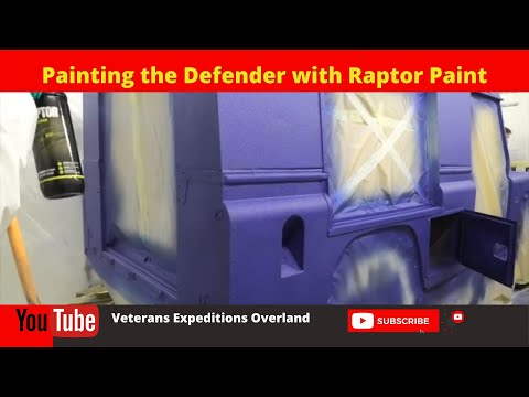 Episode 38 - Painting the Land Rover Defender in Raptor Paint