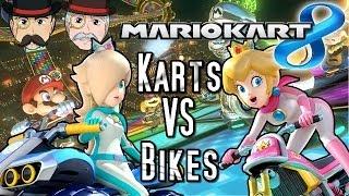 Mario Kart 8 KARTS VS BIKES - Which is Faster? Speed Comparison!