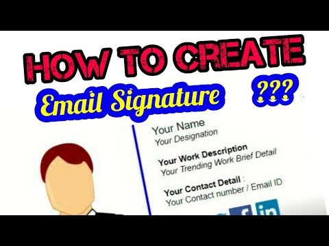 How To Create An Email Signature | 2019 | #SignatureMorons