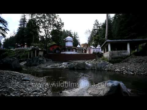 Hindu temple along the river Lohawati in Lohaghat Travel Video
