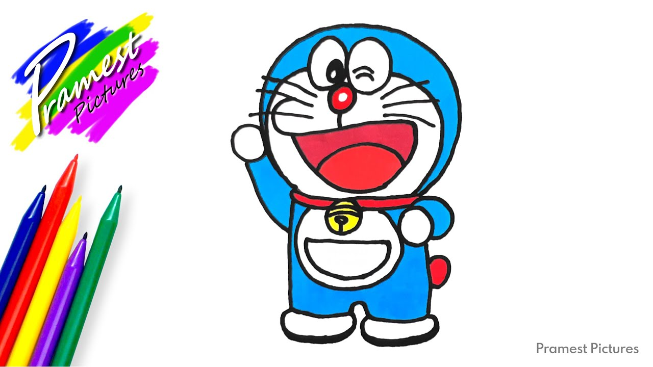 How To Draw Doraemon 4 Coloring For Kids