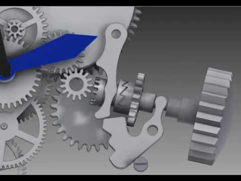 Clock autodesk inventor animation