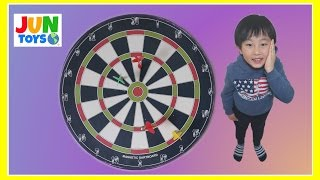 Kid Playing Darts! Dart Game for Kids! Fun Indoor Activity for Kids! Marvel Egg Surprise Jun Toys
