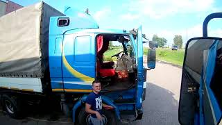Дальнобой, Рейс с братом по Беларуси, scania 112 + scania 113