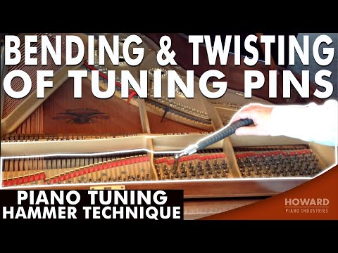 Piano Tuning Hammer Technique - Bending & Twisting of Tuning Pins