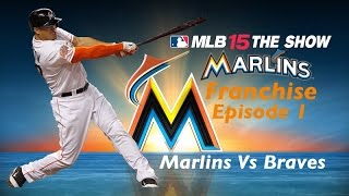 MLB 15: The Show (PS4) Miami Marlins Franchise (Y1,G1): Marlins vs Braves