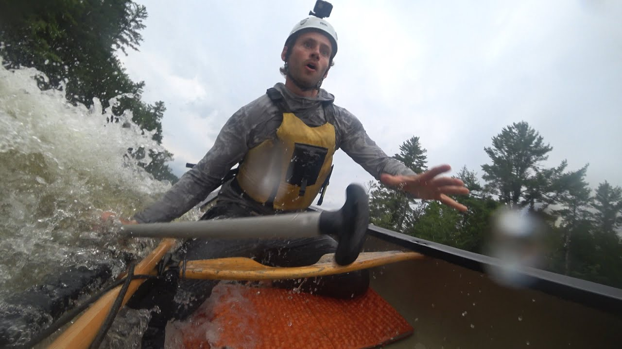 Whitewater Canoeing C4 Rapids in High Water on the Lower Madawaska River