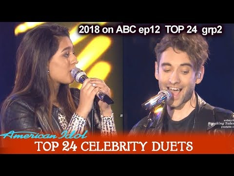 "Alyssa Raghu and Banners Duet ""Yellow""  Top 24 Celebrity Duets American Idol 2018"