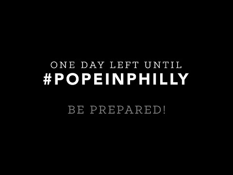 Be prepared for #PopeInPhilly! Tips from Pennsylvania state agencies