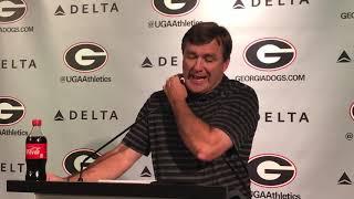Georgia football coach Kirby Smart / @MikeGriffith32 video
