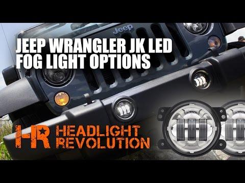 JW Speaker 6145 Jeep Wrangler JK LED Fog light Comparison