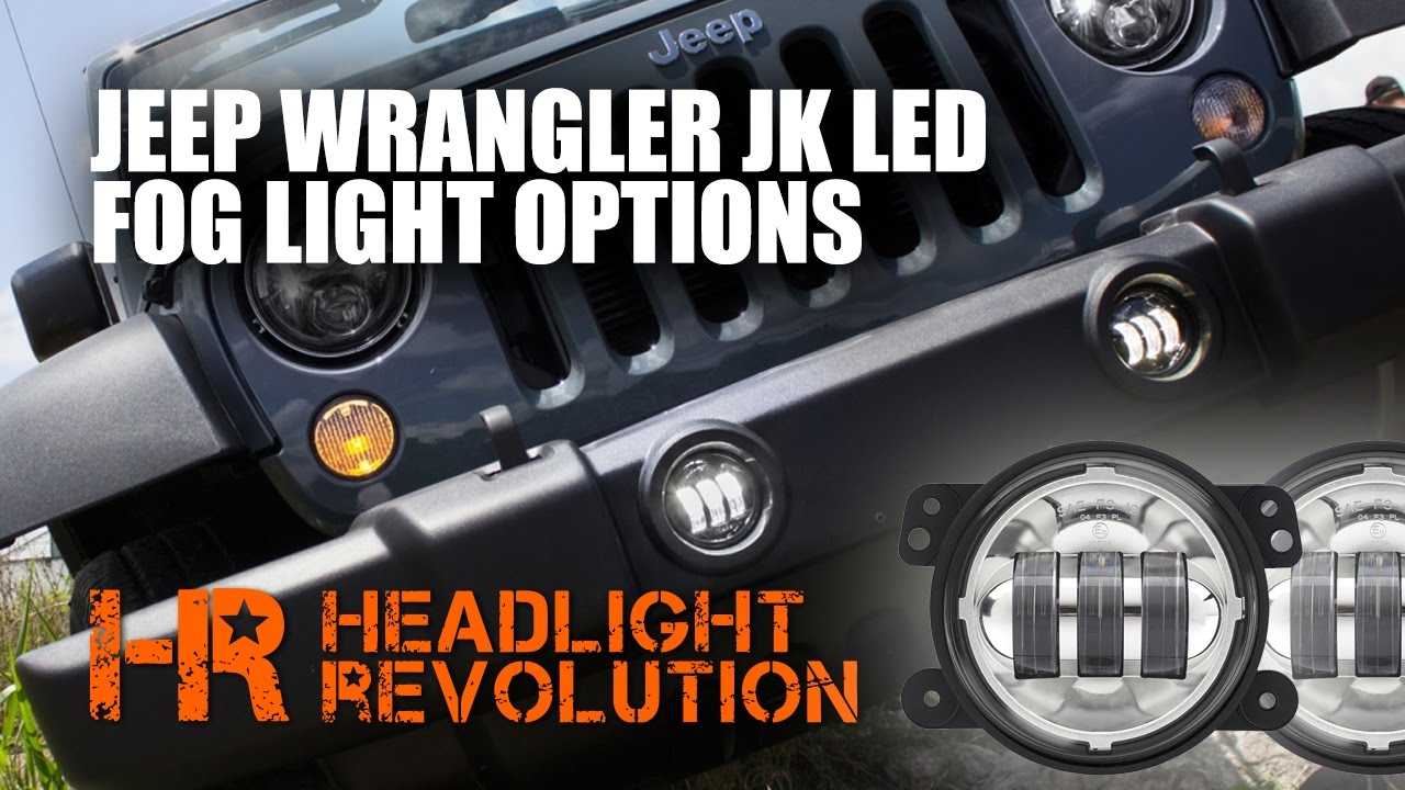 jw speaker 6145 jeep wrangler jk led fog light comparison [ 1280 x 720 Pixel ]
