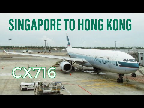 Cathay Pacific Economy Class Report CX716 Singapore to Hong
