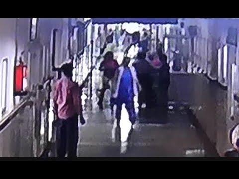 एक दबंग महिला अचानक आई और 4 सुरक्षा कर्मियों को पीटकर भाग गई, फरीदाबाद पुलिस हैरान