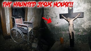 FOUND JESUS IN A HAUNTED HOUSE -  SO HAUNTED THEY LEFT EVERYTHING INSIDE!!