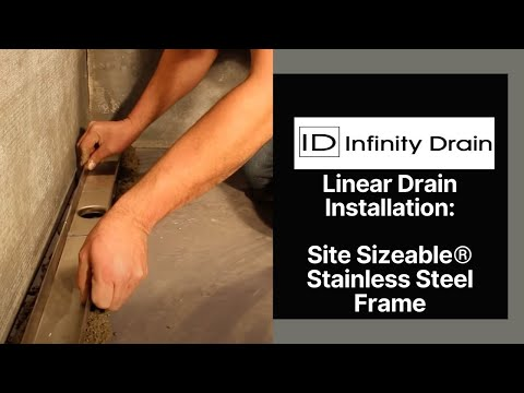 Infinity Drain - Site Sizeable Stainless Steel Linear Drain Installation