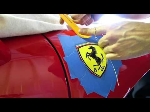 How To Remove A Car Badge DIY Ferrari 458