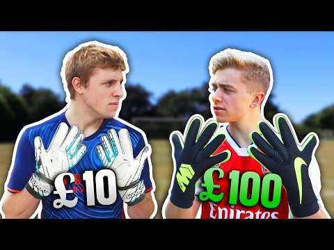 10 Goalie Gloves Vs. 100 Pro Goalie Gloves | ft. W2S