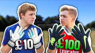 £10 Goalkeeper Gloves Vs. £100 Pro Goalkeeper Gloves | ft. W2S