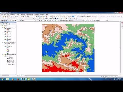 Reclassifying Raster Data || Shapefile Creation From DEM ||ArcGIS Reclassify