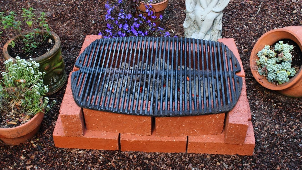 How To Make A Brick Grill Diy Temporary Hibachi