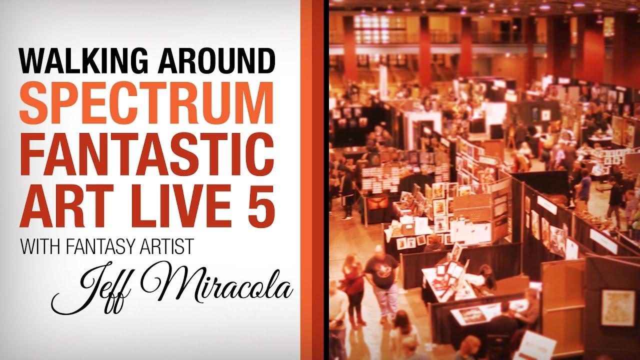 Walking around Spectrum Fantastic Art Live 5 in Kansas City
