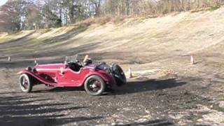 Alfa Romeo 6C 1750 at VSCC Driving Tests, Brooklands 2011