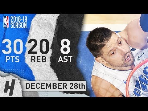 Nikola Vucevic Full Highlights Magic vs Raptors 2018.12.28 - 30 Pts, 8 Ast, 20 Rebounds!