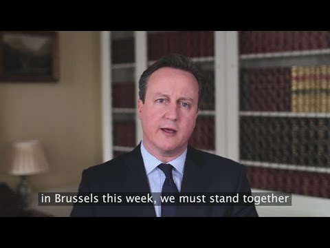 """David Cameron's Easter message: """"We must stand together"""""""