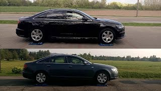 Audi A6 2016 vs Audi A6 2007 - Quattro 4x4 test on rollers