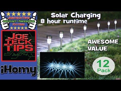 Sunnest 12Pack Solar Lights Outdoor | iHomy | Joetecktips