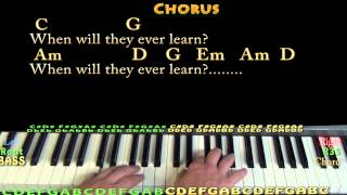 Where Have All The Flowers Gone (Pete Seeger) Easy Piano in G Cover Lesson