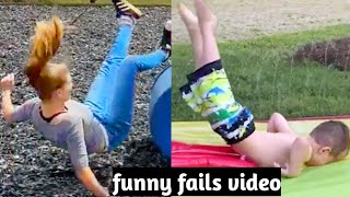 Funny fails video 😁😁. Girl fails, try not  to laugh