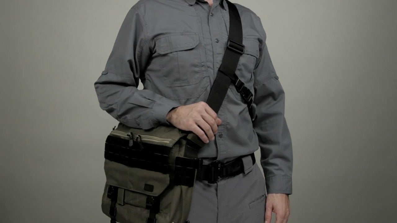 5 11 Tactical Rush Delivery Mike Messenger Style Bag Black